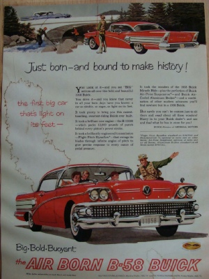 werbung aus 1958 f r buick. Black Bedroom Furniture Sets. Home Design Ideas
